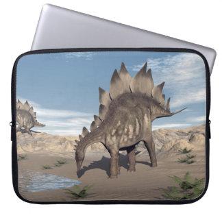 Stegosaurus near water - 3D render Laptop Sleeve