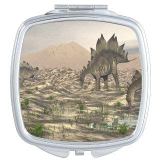 Stegosaurus near water - 3D render Makeup Mirror