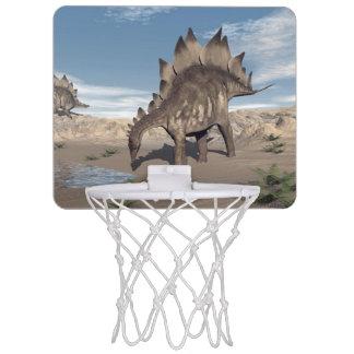 Stegosaurus near water - 3D render Mini Basketball Hoop