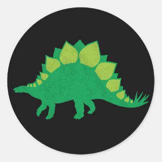 Stegosaurus Round Sticker