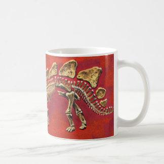 Stegosaurus Skeleton Basic White Mug