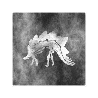 Stegosaurus skeleton canvas print