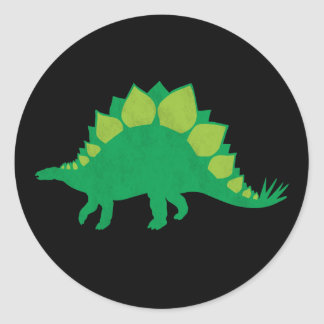 Stegosaurus Classic Round Sticker