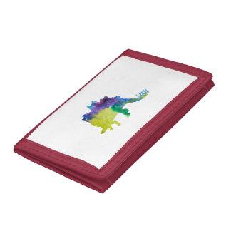 stegosaurus tri-fold wallet