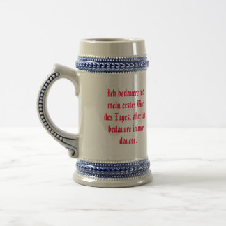 Stein with German quotation