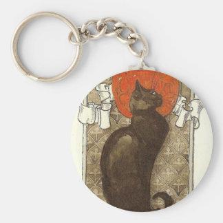 Steinlein's Cat - Art Nouveau Basic Round Button Key Ring