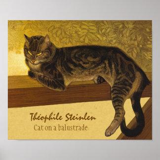 Steinlen Cat on a balustrade CC0975 Grumpy cats Poster