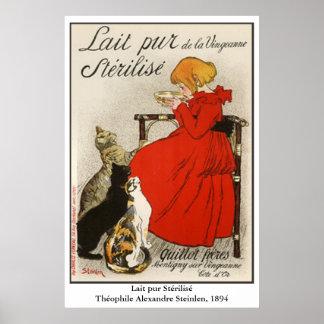 Steinlen's Lait pur Stérilisé Poster