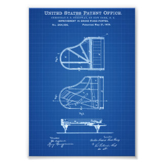 Steinway Piano Patent - Patent Print Art Photo