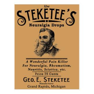 Steketee's Neuralgia Drops Grand Rapids, MI Postcard