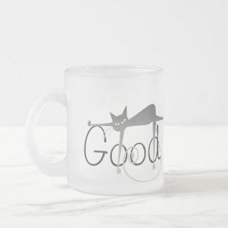 Stella Cat Good Morning Frosted Glass Coffee Mug
