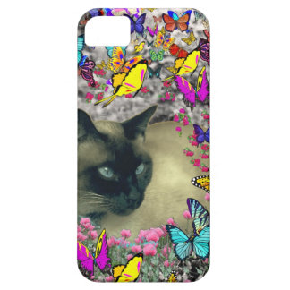 Stella in Butterflies Chocolate Point Siamese Cat iPhone 5 Cover