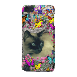 Stella in Butterflies Chocolate Point Siamese Cat iPod Touch 5G Covers