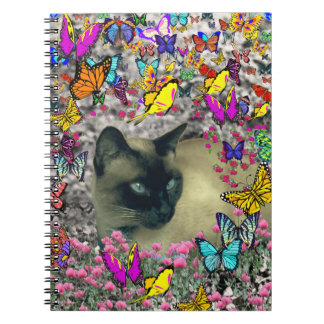 Stella in Butterflies Chocolate Point Siamese Cat Note Book