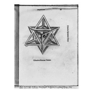 Stella octangula, from 'De Divina Proportione' Postcard