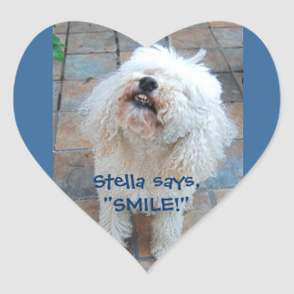 Stella Says Smile! Heart Sticker