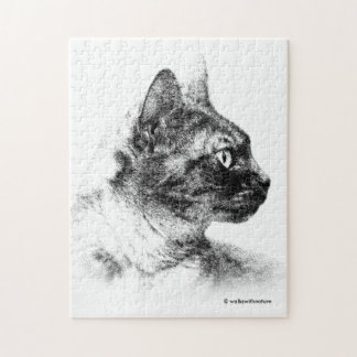 Stella the Grey Cat Jigsaw Puzzle