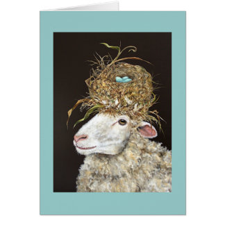 Stella the sheep card
