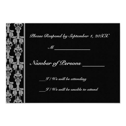 Stellar (Grey) RSVP Card Custom Announcement