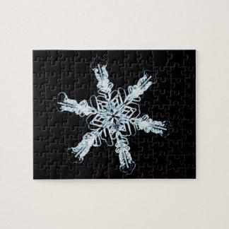 Stellar snow crystal jigsaw puzzle