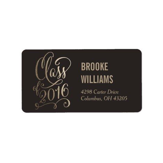 Stellar Year Editable Colour Graduation Label Address Label