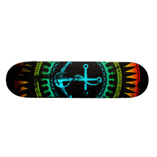 StellaRoot Anchor Down Gradient Grunge Distressed Skate Boards