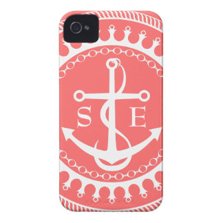 StellaRoot Anchor Down Pink Preppy Personalize iPhone 4 Cases