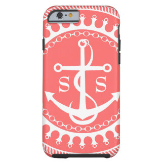 StellaRoot Anchor Down Preppy Initials Tough iPhone 6 Case