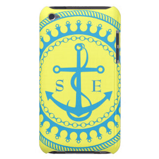 StellaRoot Anchor Yellow Aqua Preppy Personalize iPod Touch Cases