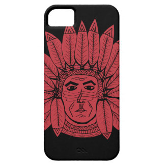 StellaRoot Drawn Vintage Chief Indian Case For The iPhone 5