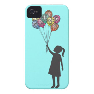 StellaRoot Hope Floats Dreaming Girl Balloons iPhone 4 Case