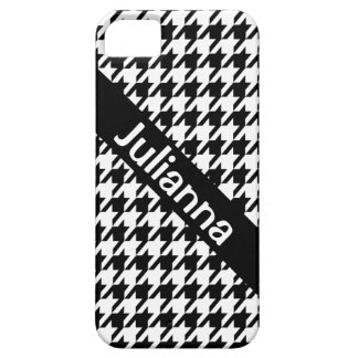 StellaRoot Houndstooth Black Vintage Barely There iPhone 5 Case