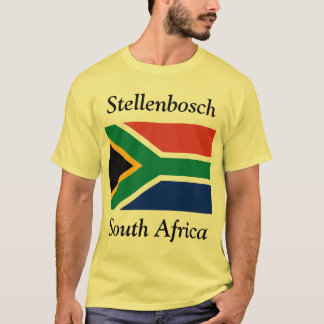 Stellenbosch, South Africa with South African Flag T-Shirt