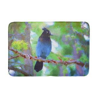 Steller's Jay 2 Painting - Original Bird Art Bath Mat