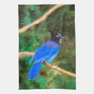 Steller's Jay Tea Towel