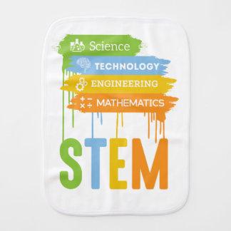 STEM Science Technology Engineering Math School Burp Cloth