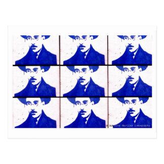 Stencil blue Pessoa Cartao Postal