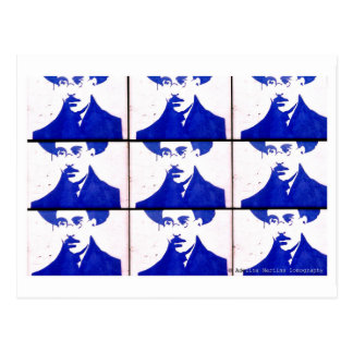 Stencil blue Pessoa Post Card