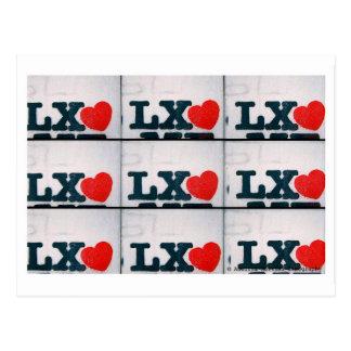 Stencil love Lx Postcard