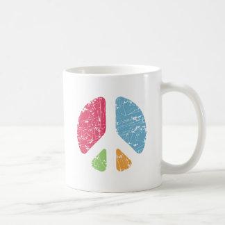 Stencil Peace Basic White Mug