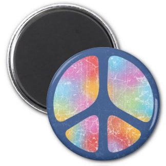 Stencil Peace II 6 Cm Round Magnet
