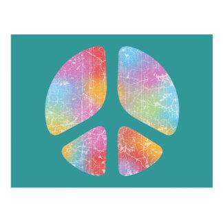 Stencil Peace II Postcard