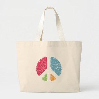 Stencil Peace Tote Bags