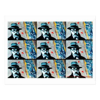 Stencil Pessoa Cartões Postais