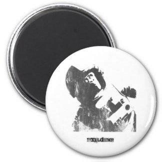 Stencil Space Monkey Spray 6 Cm Round Magnet