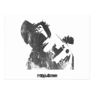 Stencil Space Monkey Spray Post Card