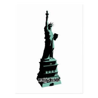 Stencil Statue Liberty Green Postcards