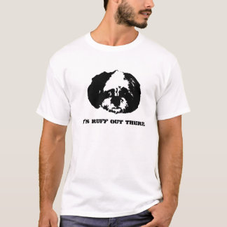 Stencil Zoe, it's ruff out there T-Shirt