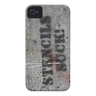 """stencils suck"" grafitti Case-Mate iPhone 4 cases"