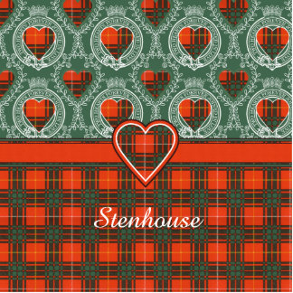 Stenhouse family clan Plaid Scottish kilt tartan Photo Sculpture Badge